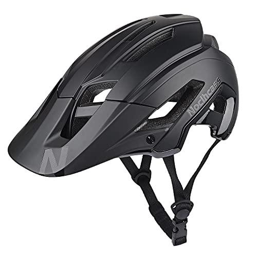 Casco da bicicletta per adulti donne uomini, casco da ciclismo MTB Mountain Bike con visiera solare per donne uomini 56-61 cm (22-24 pollici)