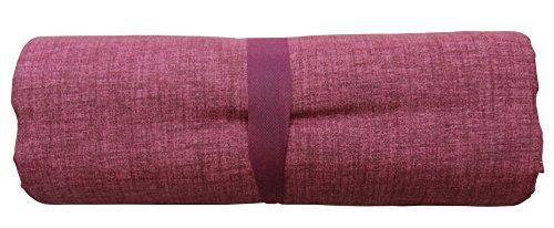 BA Grandfoulard-Telo Tagesdecke für Sofas, einfarbig, 240 x 260 cm, Farben zur Auswahl rot