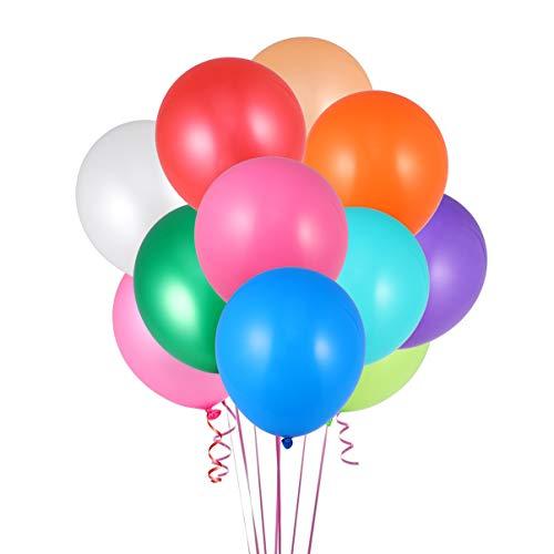 TOYANDONA 20 Piezas de Globos de Colores Surtidos, 12 Pulgadas Globos de Fiesta de Látex Globos de Colores del Arco Iris para Decoraciones de Fiesta de Cumpleaños sin Cinta