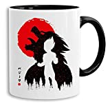Red Sun Vegeta - tazza tazze da caffè Mug regalo Son Ruffy Luffy Zoro Saitama One Dragon Master Goku Ball Vegeta Roshi Piece Db, Farbe2:Bianco
