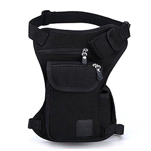 Xieben Canvas Taillenpackung Outdoor Travel Oberschenkeltasche für Männer Frauen Tactical Military Motorcycle Bike Multi-Pocket Drop Leg Taschen Beutel Hüfttaschen