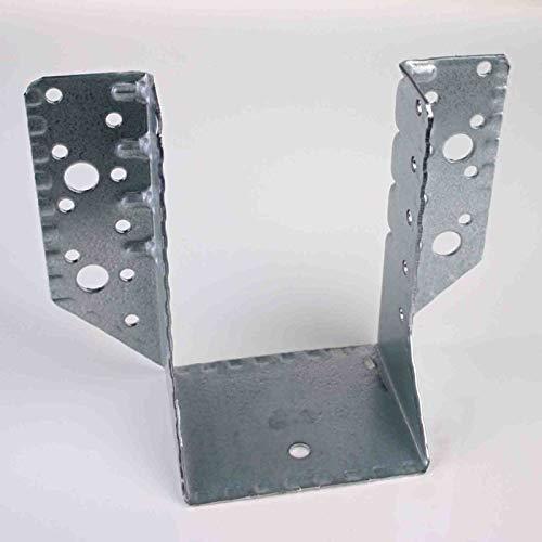 80 x 120 mm Balkenschuh (10 Stück) Balkenschuhe verzinkt DIN EN 10326 Holzverbinder mit Zulassung außenliegend aussen