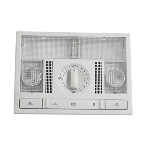 Iycorish Interruptor de LáMpara de Luz de Lectura de CúPula Gris de Coche para Po-Lo 9N 2002-2010 6Q0959613A