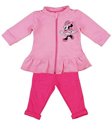 Disney Baby Trainingsanzug Minnie Mouse 2 TLG Set Rosa Mädchen Sportanzug 80 86 92 98 Jogginganzüge für Baby-Mädchen, Größe: 86