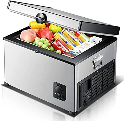 FCXBQ Nevera con compresor, Nevera portátil con congelador para Acampar, 24V / 12V / 220-240V (35L / 45L / 65L) Nevera para Coche, Nevera para Coche, para Viajes de Picnic en Camping (tamaño: 45L)