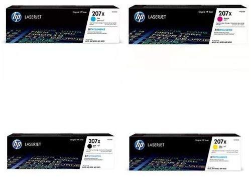 HP Original Toner Multipack 207X (je 1 x W2210X W2211X W2212X W2213X) für HP Color Laserjet Pro M255 M282 M283