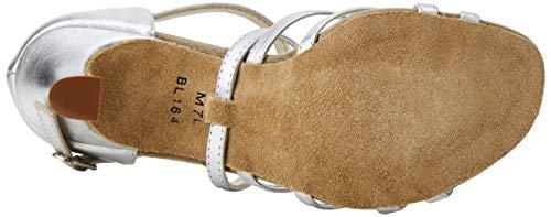 So Danca Damen Bl164 Standard-& Latintanzschuhe, Silber Silver, 37 EU - 4