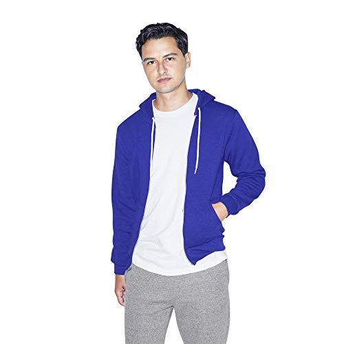 American Apparel Flex Fleece Long Sleeve Zip Hoodie, F497W Sweatshirt Capuche, Lapis, L Homme