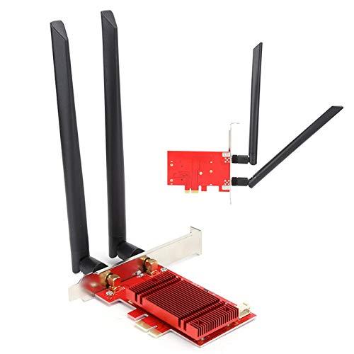 Drahtlose Netzwerkadapterkarte, 2,4G/5G-Adapterkarte Drahtloses Netzwerk M.2 NGFF zu PCI-E Desktop-Peripheriegeräte Riser Dual Frequency, M.2 NGFF Desktop-Adapterkarte mit stabiler Übertragungsgeschwi
