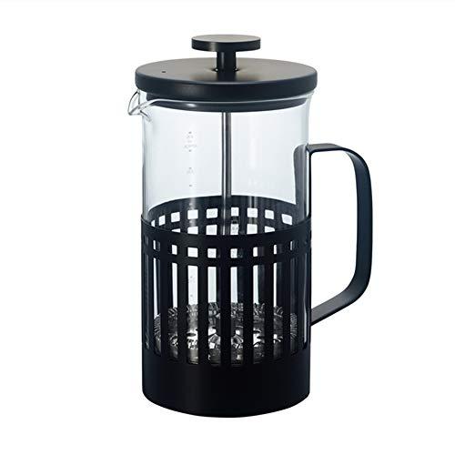 ZoSiP Caffettiere a Pistone French Press Francese Filtro a Pressione Filtro Pot Coffee Pot Domestica Flush Cup Mano (Color : Stainless Steel, Size : 600ml)