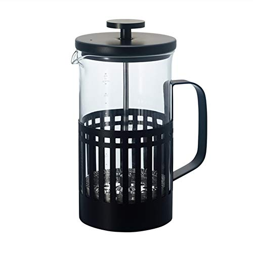 ZoSiP Caffettiere a Pistone French Press Francese Filtro a Pressione Filtro Pot Coffee Pot Domestica Flush Cup Mano (Color : Stainless Steel, Size : 600ml)