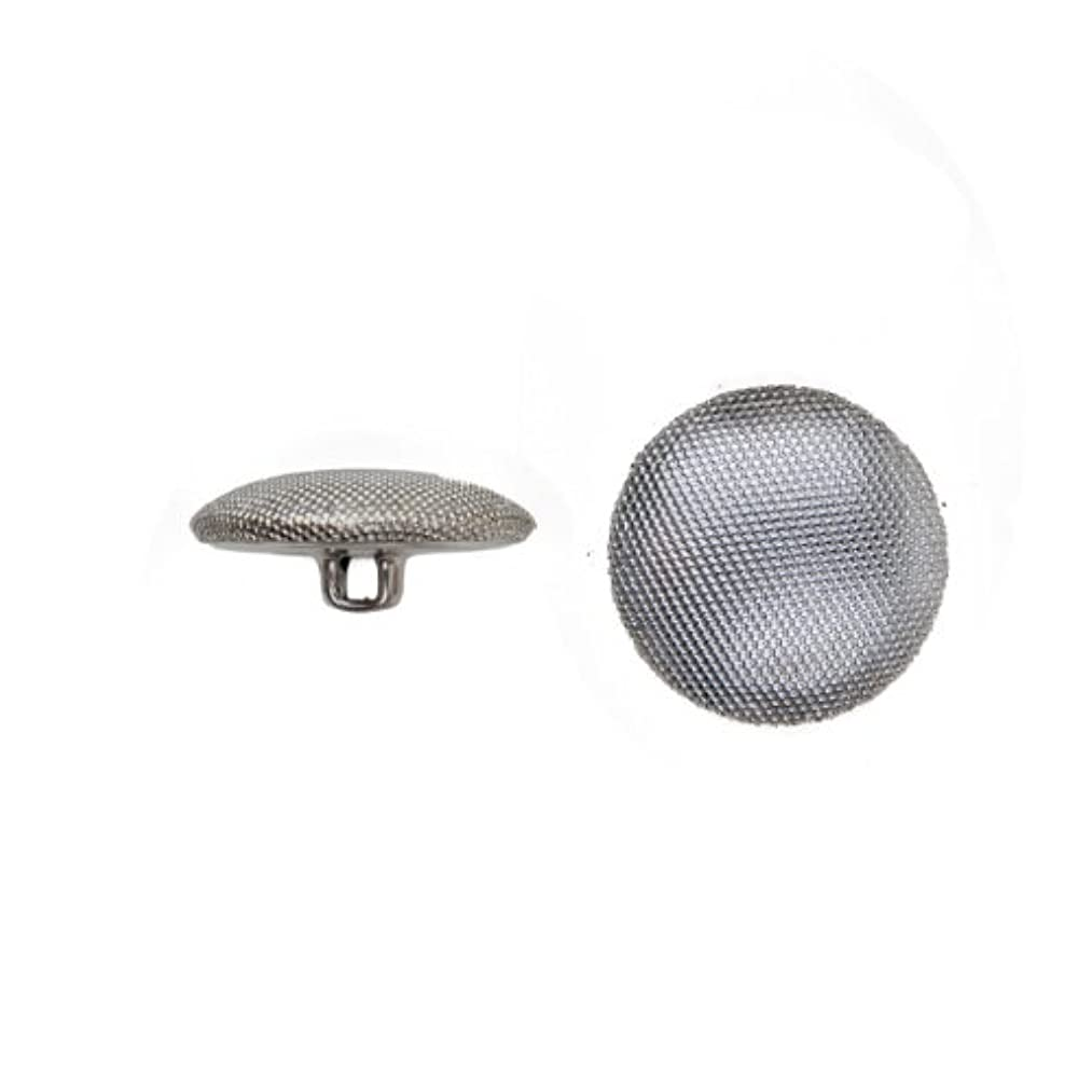 C&C Metal Products 5052 Beaded Pattern Dome Metal Button, Size 20 Ligne, Nickel, 144-Pack