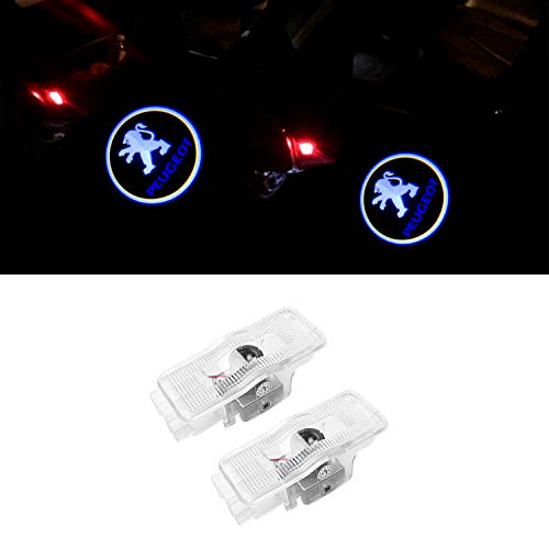 ZTMYZFSL 2Pcs Car Logo Projector Porta Ghost Shadow Light Lampada per la luce di benvenuto