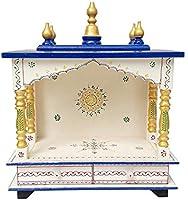 Krishna Mehta Wood Home Temple (46 x 23 x 55 cm, Multicolour)