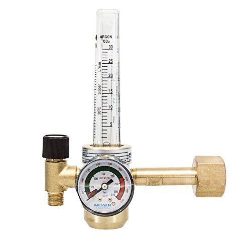 MESSER Druckminderer Argon/Co2/Schutzgas 200 bar mit Flowmeter 0-30 l/min