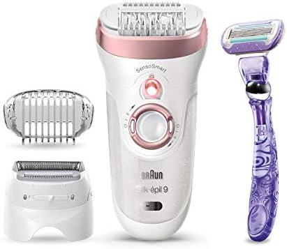 Braun Epilator Silk pil 9 9 870 Facial Hair Removal for Women Wet Dry Facial Facial Hair Remover product image