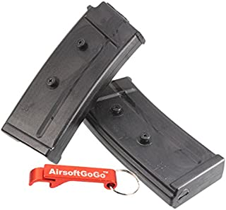 x3 pcs Kriss Vector G30 Airsoft AEG Krytac 95 balines Cargador de Metal Negro