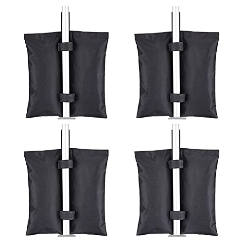 ChenYi 4 bolsas de peso de arena Gazebo, de tela Oxford, con doble costura, bolsas de arena para exteriores, para tiendas de campaña, sombrillas, tiendas de patio, camas elásticas