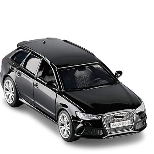 Simulación 1:36 Aleación para AUD RS6 Toy Coche Modelo Metal Diecast Static Modelo De Juguete Puerta De Vehículo Abierto para Niños Regalo (Color : Black)