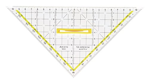 Aristo - Squadra da disegno triangolare, plexiglas