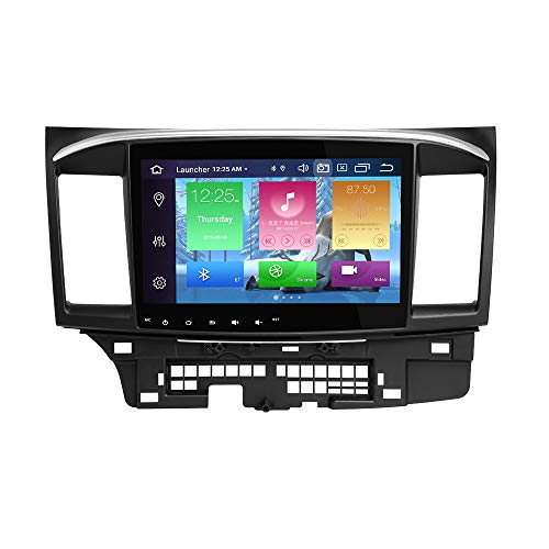 Android Autoradio Stereo, ZLTOOPA Für Mitsubishi Lancer 2008-2015 Android 10 Octa Core 4G RAM 64G ROM HD Digitaler Multi-Touchscreen Auto Stereo GPS Radio