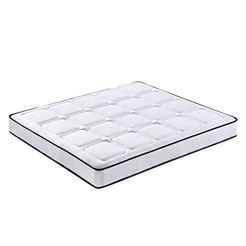 MKMKT Colchón, colchón de látex de tamaño completo, resorte independiente, diseño ergonómico, tejido transpirable de punto, grosor 20,3 cm, 47 x 79 pulgadas