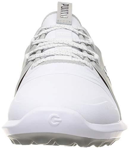 Puma Men's 194466 Golf Shoe, White Silver-HIGH Rise, 9 UK
