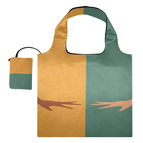 Bolso de mano para hombro Hermosas chicas de dibujos animados Disfraz de conejito lindo Bolsas de mano para mujer Bolsa de lona para hombre Bolsas de compras reutilizables de poliéster, lavables, dur