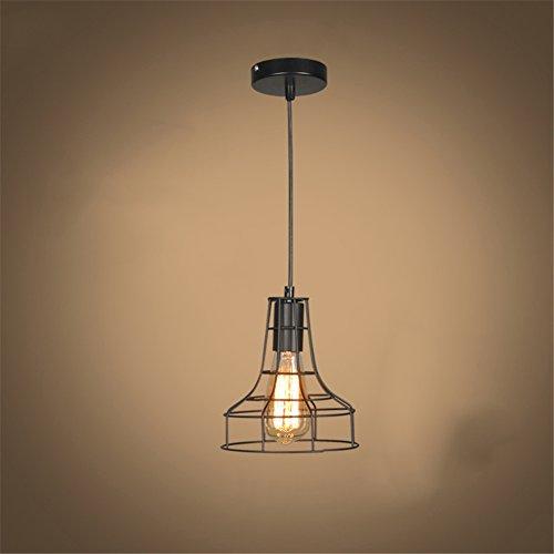 Rétro Métal Industriel en Métal Pendentif Porte-lampe E27 Vintage Style Iron Suspendue Light Shade