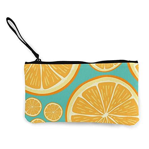 Porte-Monnaie en Toile de Fruits au Citron, Pochette de Maquillage de Voyage, Sac de Caisse, étui à Crayons, Pochette Portefeuille