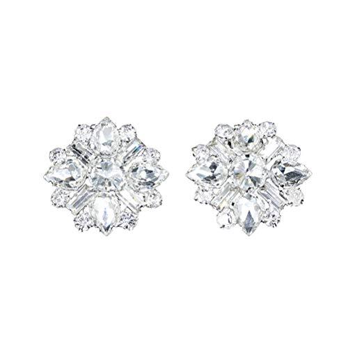 BESTOYARD 1 Par Clip de Zapatos Desmontable de Cristal Diamante de Imitación...
