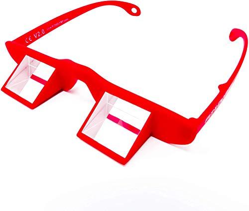 FIT4OLYMP veiligheidsbril rood lichte Prisma klimbril voor klimmen beveiligen Belay glazen voor brildragers nek ontlasten Climbing Prisma hoekbril