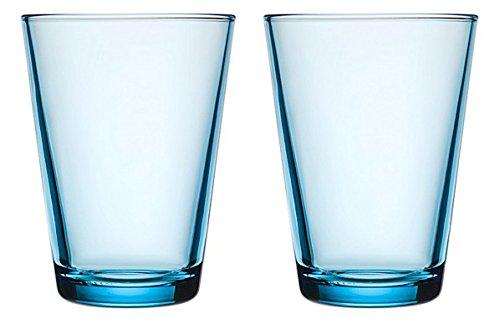 Iittala 004771SET Kartio Glas 40 cl, 2-er Set, hellblau