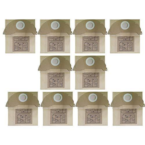 De Galen Piezas de repuesto de filtro de papel bolsa de polvo kits de piezas de repuesto para Karcher A2000, A2099, WD2, WD2399 Juego de accesorios de aspiradora (amarillo)