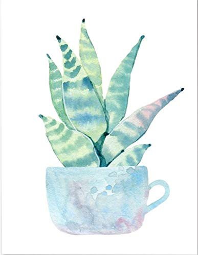 Volledige Ronde Boor 5D DIY Diamant Borduren Plant Cactus Iconen, 3D Diamant Schilderen Kruissteek Kits Strass Steentjes Mozaïek Wanddecoratie 40 * 50cm