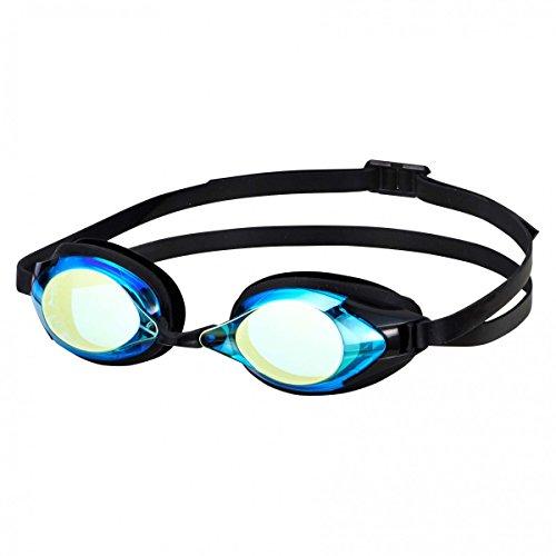 SWANS spiegelend Zwembril SR-2M - hemelsblauw en flitser geel (SBFY)