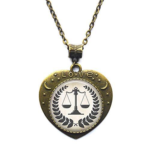 Colgante de escalas de justicia, collar de escalas legales, regalo de graduación de estudiante de derecho, abogado o collar paralegal, N347