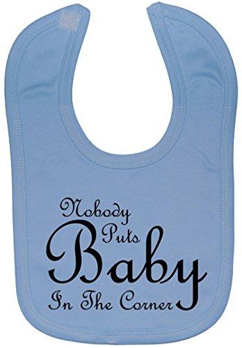 Acce Products Nobody Puts Baby In The Corner Bavoir pour bébé avec touche de 0 à environ 3 ans - Bleu - Taille Unique