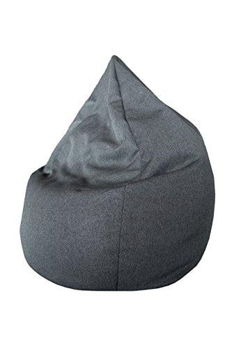 ZOLLNER Sitzsack für Kinder und Erwachsene, Füllung EPS Perlen, 50x95 cm