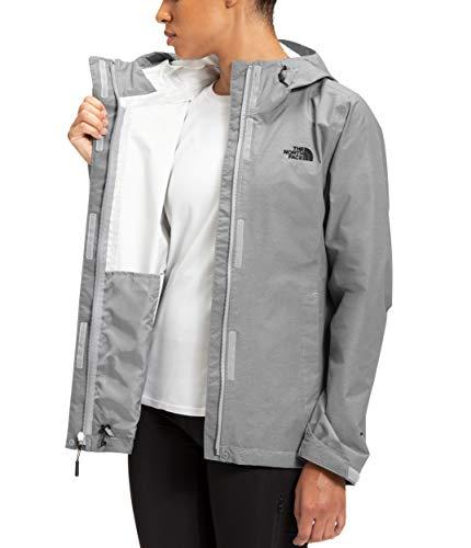 The North Face Women's Venture 2 Waterproof Hooded Rain Jacket, TNF Medium Grey Heather, XS