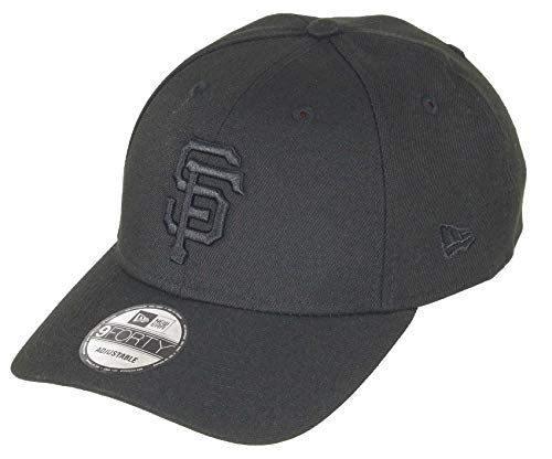 New Era San Francisco Giants 9forty Adjustable Snapback Cap MLB Essential Bob Black - One-Size