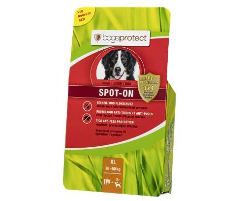 bogaprotect UBO0350 Spot-ON für Hunde - Zeckenmittel - Flohschutz - Zeckenschutz - bis zu 12 Wochen vorbeugender Schutz gegen Zecken & Flöhe - Wirkstoff auf pflanzlicher Basis