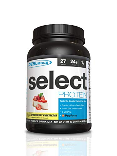 PES Select Protein Strawberry Cheesecake 27 Serve, 837 g