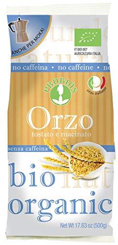 Probios Orzo Tostato e Macinato Italiano Anche per Moka - 6 confezioni da 500 gr