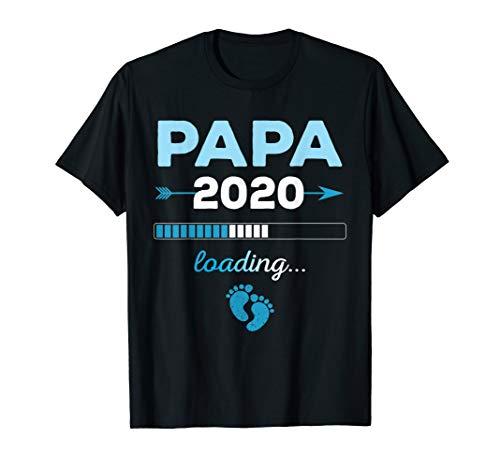 Herren Papa loading 2020 Werdender Vater Eltern Nachwuchs Geschenk T-Shirt