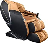 Osaki OS - Aster, S, L-Track Massage, Zero Gravity Mode, 5 Massage Style, Outer Shoulder Massage, Space Saving Technology, Extendable Footrest (Black/Cappuccino)