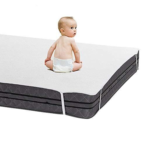 ABUKJM Protector De Colchón De Sábana Impermeable Terry De 180x200 CM, para Cama De Hospital De Dormitorio, Funda De Cama Anti-ácaros, para Colchón