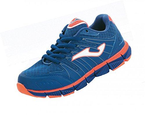 Joma - Zapatillas de running de material sintético para niño azul azul, color azul, talla 32