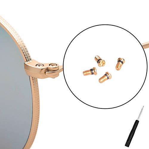 CEYDEY - Tornillos de repuesto para gafas de sol Ray-Ban Aviator RB 3025 (4 unidades), Dorado