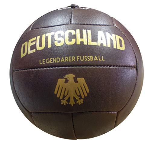 Balon de Fútbol Vintage Alemania. Piel Autentica.Envejecido Artesanal.